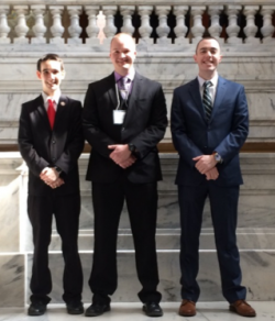 2017 Posters-at-the-Capitol EKU HLS Participants (from L to R): Matthew Waters, Justin Baldwin, Jacob Peoples