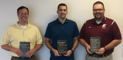 From L to R:  Dr. Chad Foster, Dr. Brian Simpkins and Dr. Ryan Baggett
